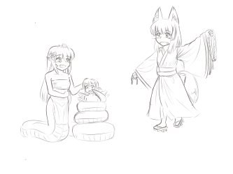 chan-loli_Fox_lamia_and_Fairy