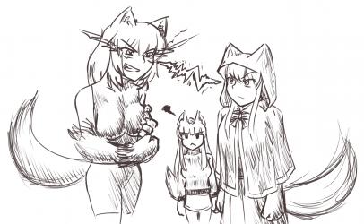 monster - A hellhound werewolf and a anubis walked into a park