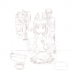 monster - anubis daughter dinner