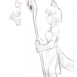 monster - anubis daughter staff