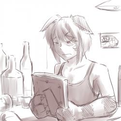 monster - depressed Cheshire