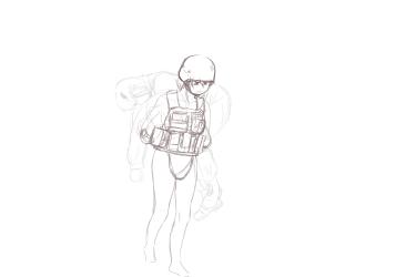monster - living armour girl carry