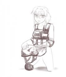 monster - living armour girl military