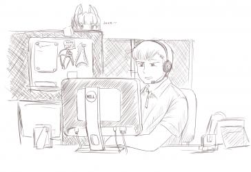 monster - male lewd telemarketer