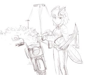 monster - motorcycle Minte mantis