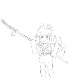 monster - naginata kitsune