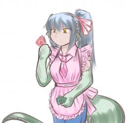 monster - waitress lizardman