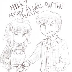 monster - TPR, milk in tea