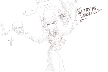 monster - lich, scary elisabeth