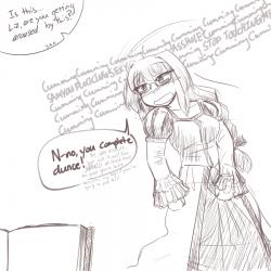 monster - lich, teasing Elisabeth dress